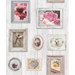 Papier peint Cadres roses - Faux Semblant - UGEPA
