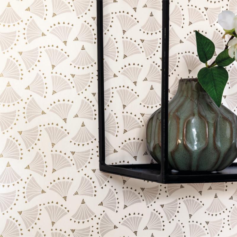 Papier peint Origami beige - HANAMI - Caselio - HAN100361121