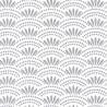 Papier peint motif japonais HAIKU gris foncé - HANAMI - Caselio