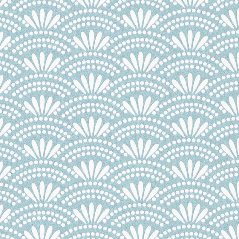 Papier peint Haiku bleu clair - HANAMI - Caselio - HAN100376221
