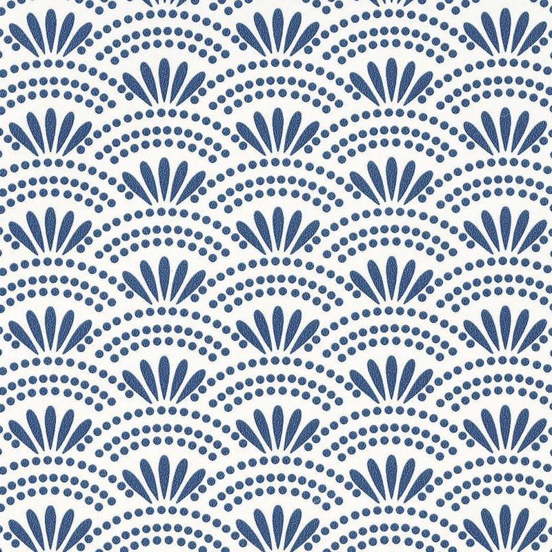 Papier peint Haiku bleu porcelaine - HANAMI - Caselio - HAN100376606