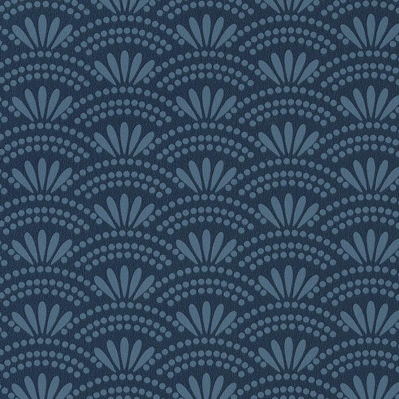 Papier peint Haiku bleu cobalt - HANAMI - Caselio - HAN100376808