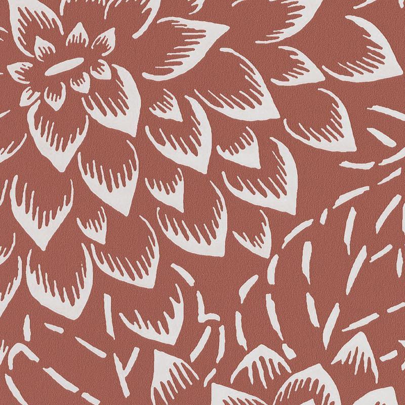 Papier peint Hana terracotta - HANAMI - Caselio - HAN100353233