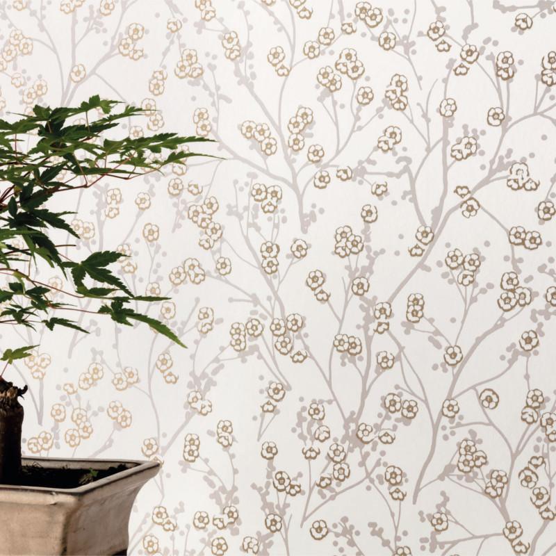 Papier peint Sakura beige - HANAMI - Caselio - HAN100341717