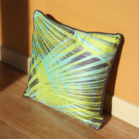 Coussin EXOTIC vert à motif tropical - 45x45cm