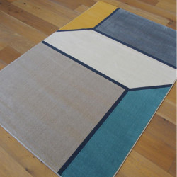 Tapis moderne style Mondrian pastel - Canvas - 140x200cm
