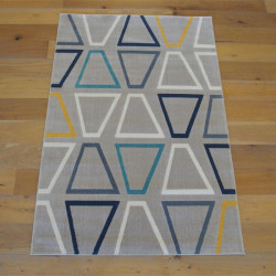 Tapis moderne beige à motifs géométriques - Canvas - 140x200cm