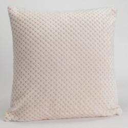 Coussin relief damier uni blanc crème - 40x40cm - Amadeus