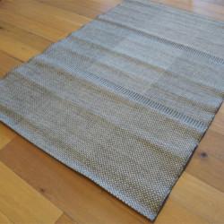 Tapis en cordes tressées grises à motifs carrés - 160x230cm - INDY