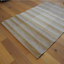 Tapis en cordes tressées beiges à motifs carrés - 160x230cm - INDY
