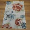 Tapis floral - écru et fleurs corail, bleu gris - 160x230 - OPTIMIST COSY- BALTA