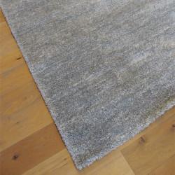 Tapis shaggy moucheté gris clair et blanc ultra doux - 200x290cm - SHERPA