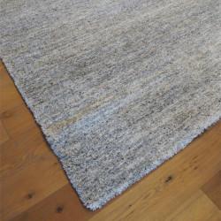 Tapis shaggy chiné gris, noir et blanc ultra doux - 200x290cm - SHERPA