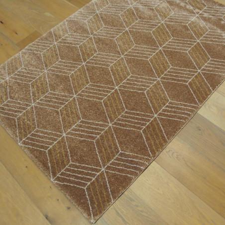Tapis GEO cappuccino, motif géometrique écru et cappuccino - 120x170cm - ELLE - BALTA