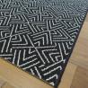 Tapis corde tissé à plat motif géométrique noir et blanc - 140x200cm - ESSENZA