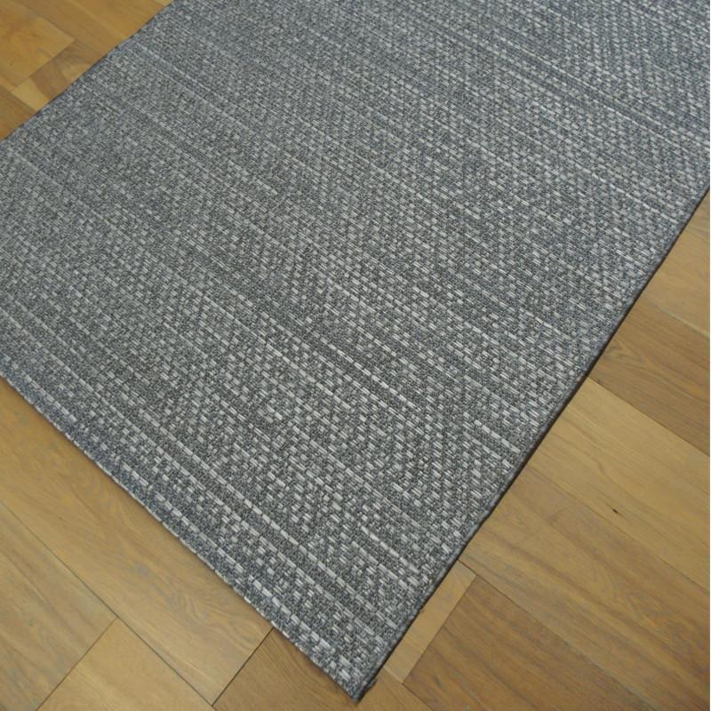 tapis en cordes effet tress jonc de mer gris 120x170cm indy. Black Bedroom Furniture Sets. Home Design Ideas