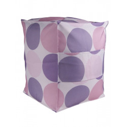 Pouf à pois violet et rose - Nandine - BLYCO
