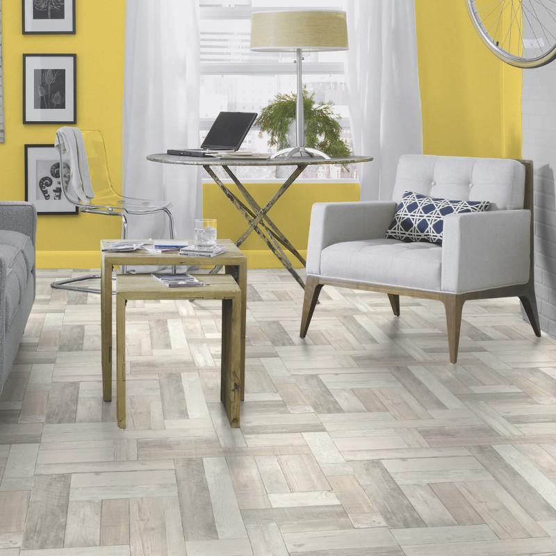 Sol PVC - Trend Pine blanc - Iconik Life TARKETT - rouleau 4M