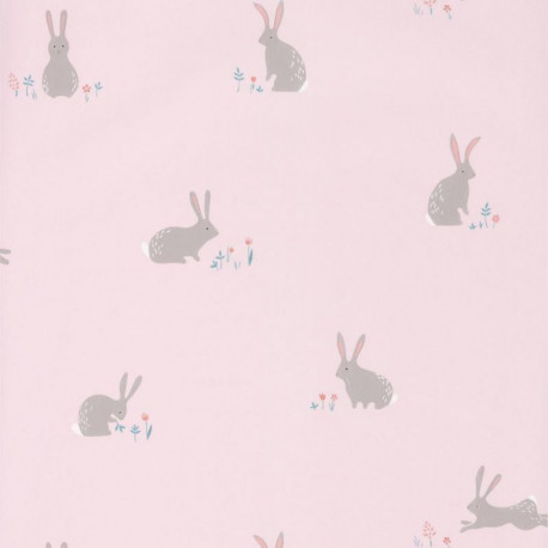 Papier peint Lapin rose - HAPPY DREAMS - Casadeco - HPDM82734107
