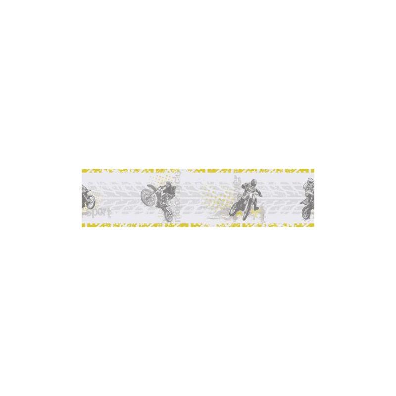 Frise adhésive enfant Motocross vert - ONLY BOYS - Caselio - OLB64827070