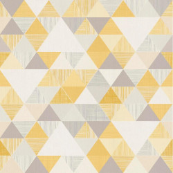 Papier peint à motif Triangles jaune et gris - Collection INSPIRATION WALL - GRANDECO