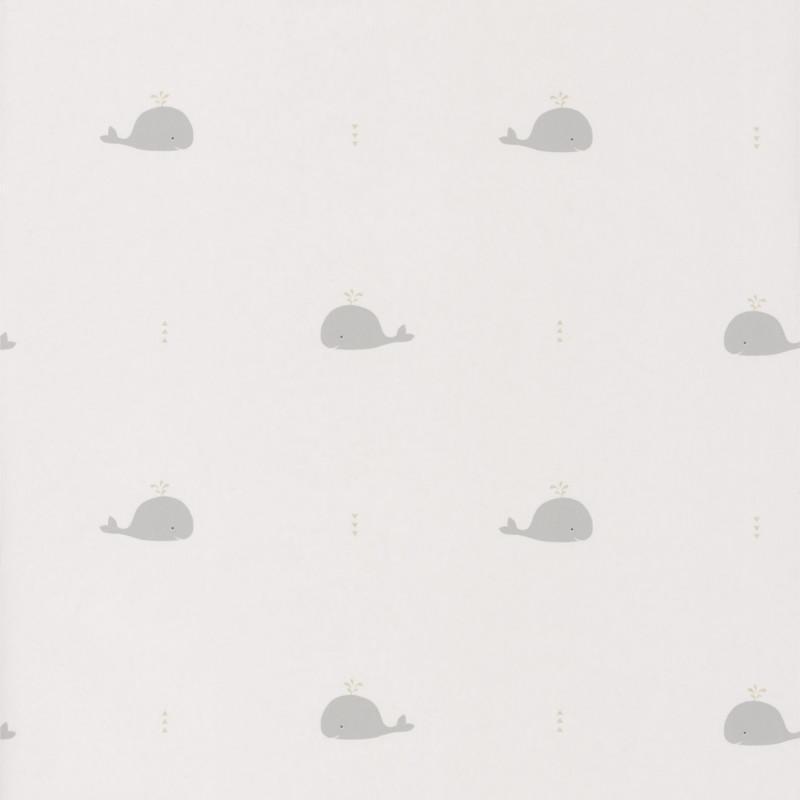 Papier peint Baleines grises - HAPPY DREAMS - Casadeco - HPDM82791121
