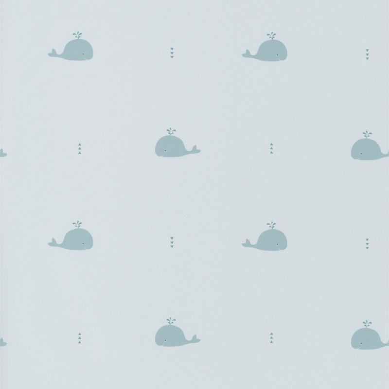 Papier peint Baleines bleues - HAPPY DREAMS - Casadeco - HPDM82796122