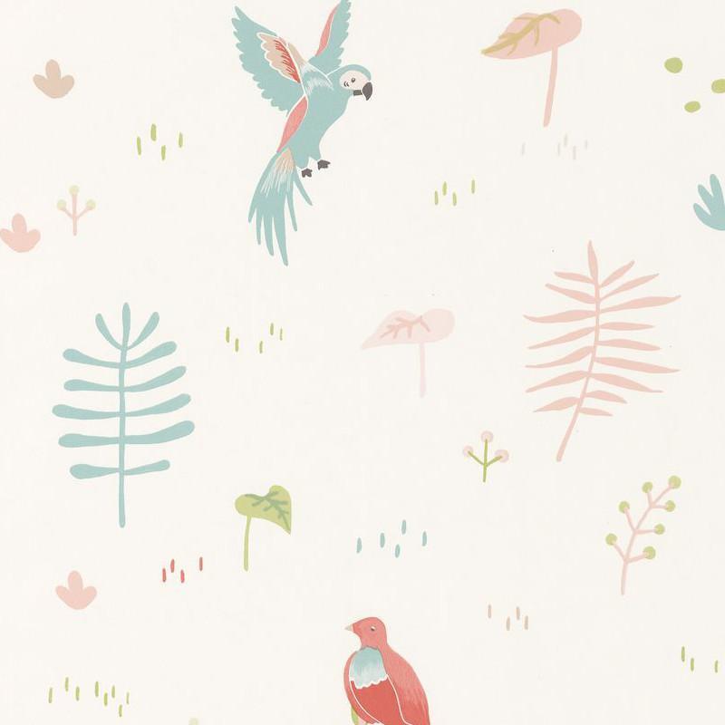 Papier peint Tropical corail - HAPPY DREAMS - Casadeco - HPDM82923102