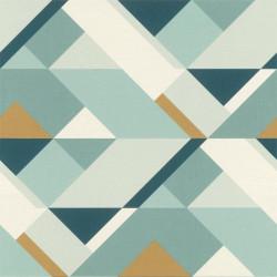 Papier peint intissé Graphic à motifs géométriques bleu gold - Rasch