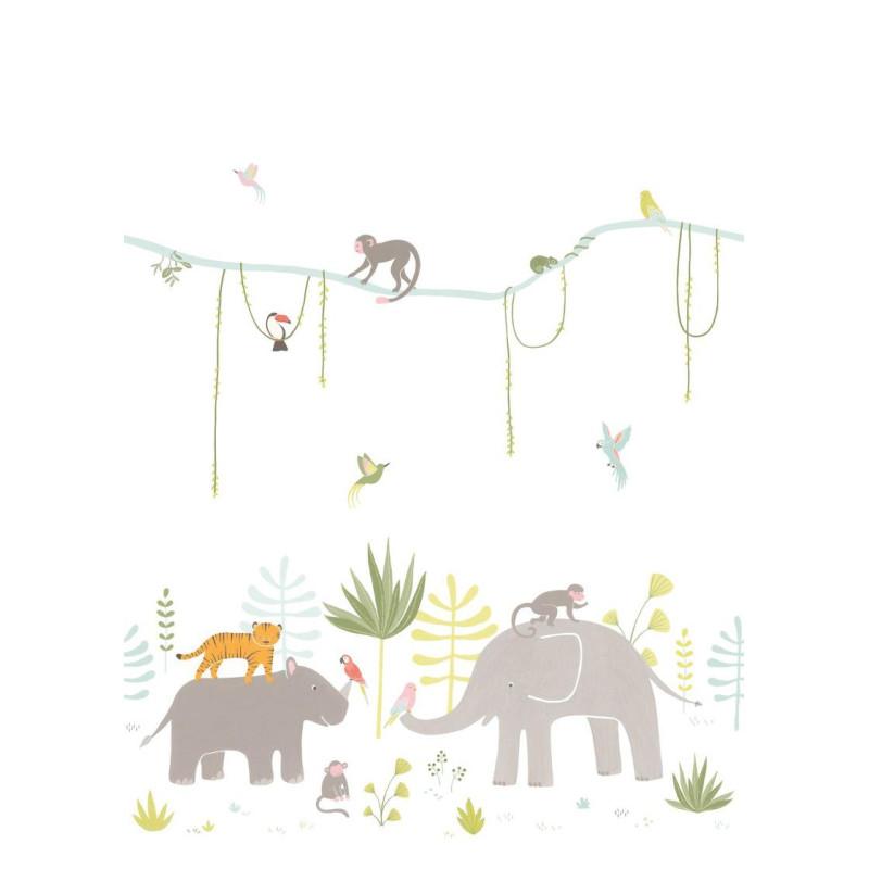 Panoramique Jungle multicolore - HAPPY DREAMS - Casadeco - HPDM82994343