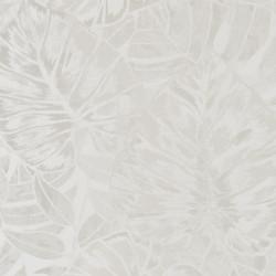 Papier peint FEUILLES blanc irisé - PANAMA- Casadeco