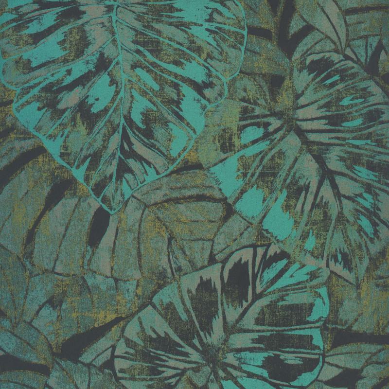 Papier peint Feuilles vert mousse et émeraude - PANAMA - Casadeco - PANA81077509