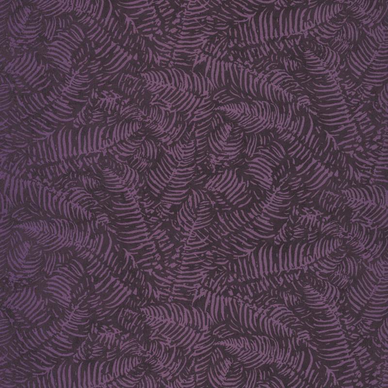 Papier peint Fougères prune - PANAMA - Casadeco - PANA81085334