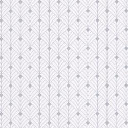 Papier peint MISTINGUETT blanc et gris - SCARLETT - Caselio