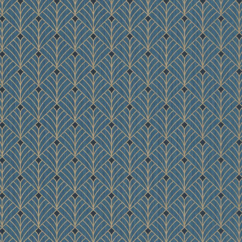 Papier peint Mistinguett bleu canard et doré - SCARLETT - Caselio - SRL100436053