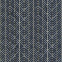 Papier peint MISTINGUETT bleu nuit et doré - SCARLETT - Caselio