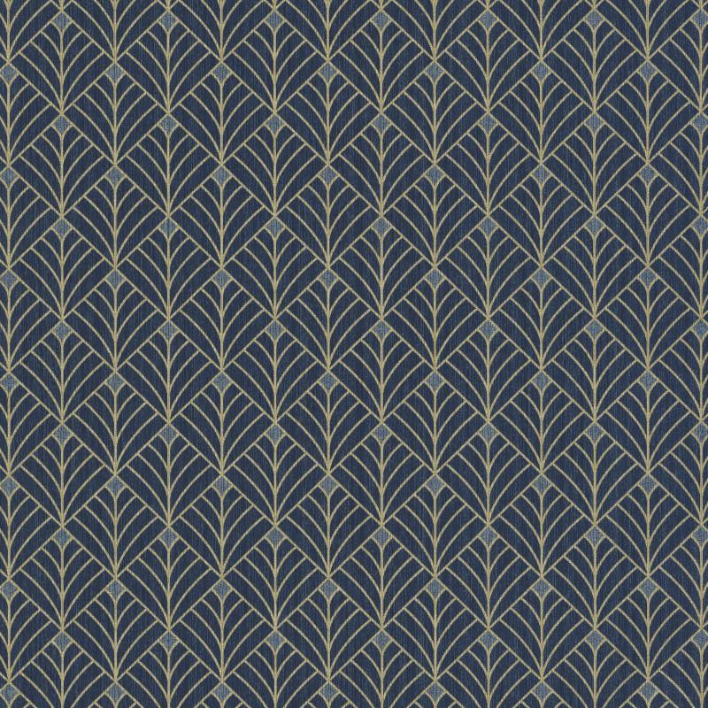 Papier peint Mistinguett bleu nuit et doré - SCARLETT - Caselio - SRL100436120