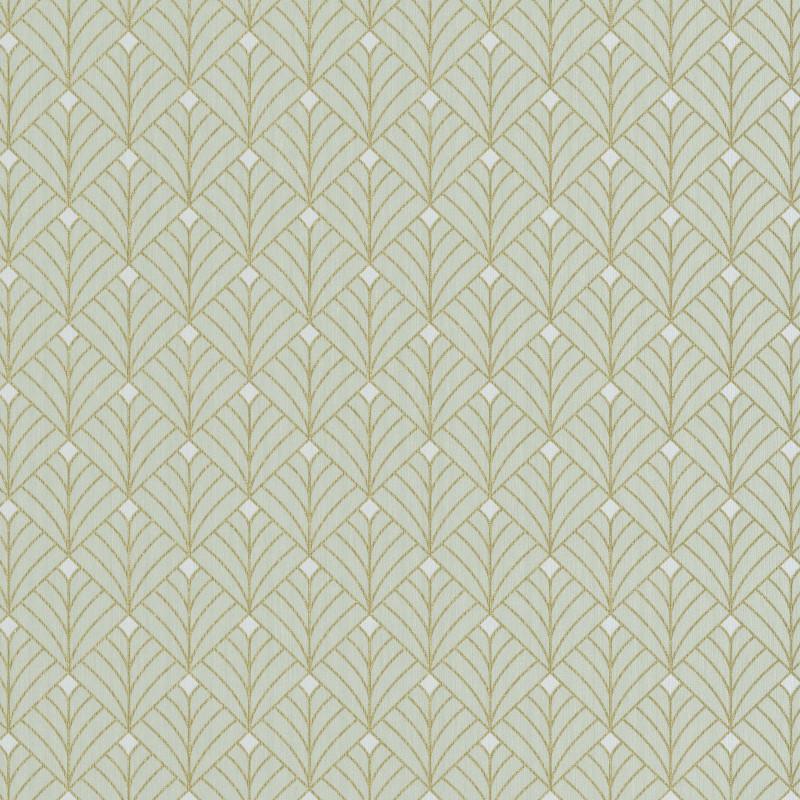Papier peint Mistinguett vert d'eau et doré - SCARLETT - Caselio - SRL100437070