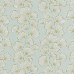 Papier peint GINKGO vert d'eau et doré - SCARLETT - Caselio
