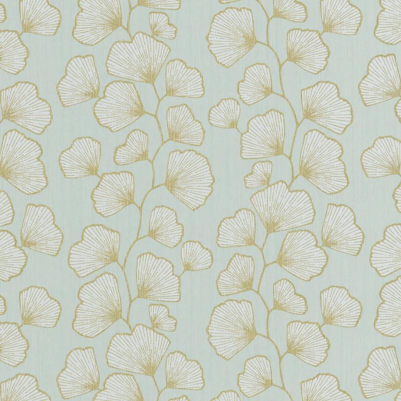 Papier peint Ginkgo vert d'eau et doré - SCARLETT - Caselio - SRL100487003