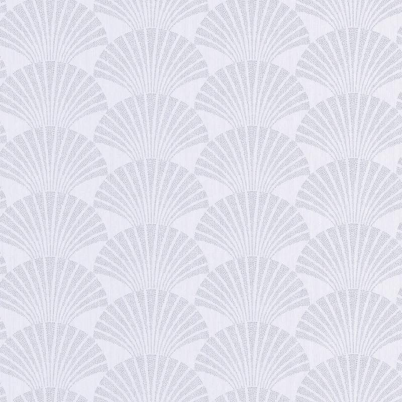 Papier peint Pearl blanc et argenté - SCARLETT - Caselio - SRL100490198
