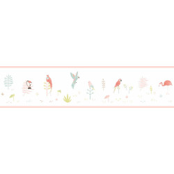 Frise enfant Tropical corail - HAPPY DREAMS - Casadeco - HPDM82873235