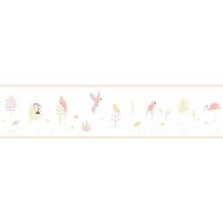 Frise enfant Tropical parme - HAPPY DREAMS - Casadeco - HPDM82875236