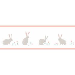 Frise enfant Bunny rose - HAPPY DREAMS - Casadeco - HPDM82894240