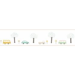 Frise enfant Vintage Cars vert menthe - HAPPY DREAMS - Casadeco - HPDM82907342