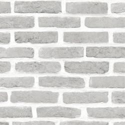 Papier peint Mur de Briques grises - Roll in Stones -UGEPA