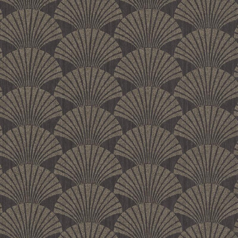 Papier peint Pearl gris anthracite et or - SCARLETT - Caselio - SRL100499029