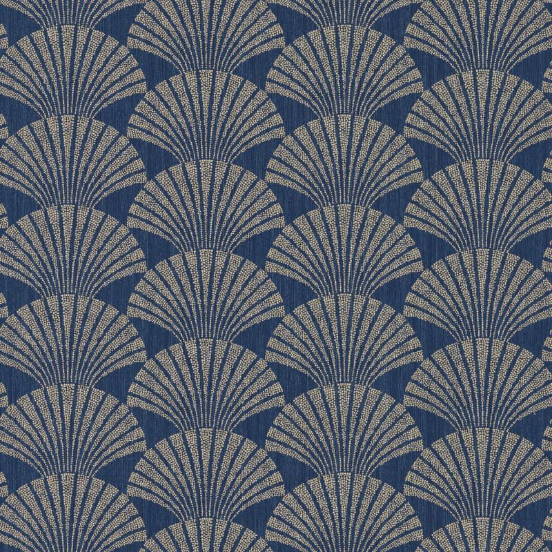Papier Peint Bleu Et Or.Papier Peint Pearl Bleu Nuit Et Or Scarlett Caselio