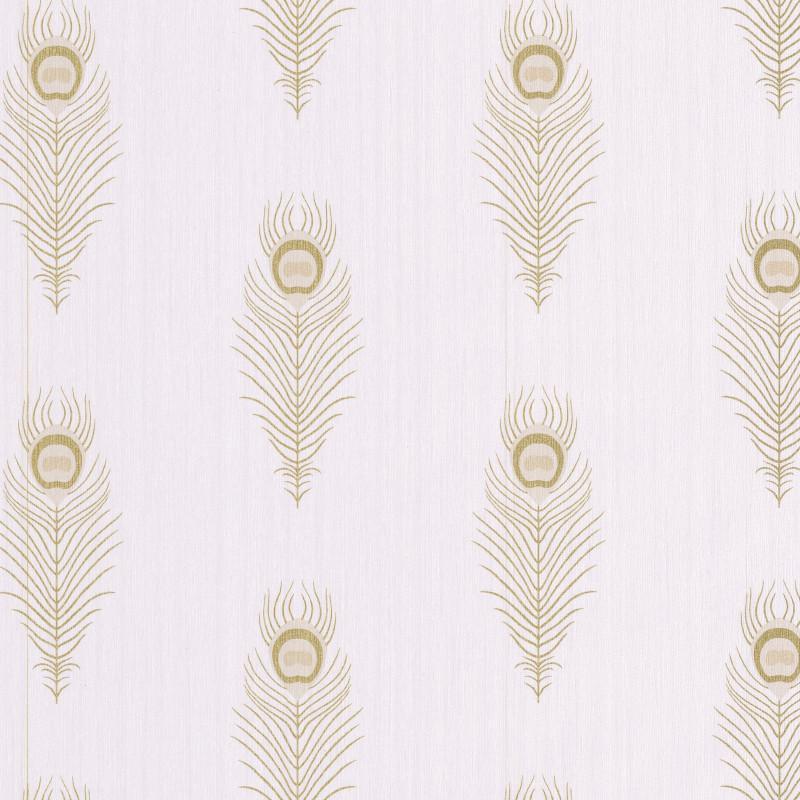 Papier peint Peacock beige et doré - SCARLETT - Caselio - SRL100461020