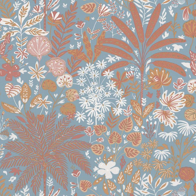 Papier peint Hope bleu céleste et marsala - HYGGE - Caselio - HYG100596524